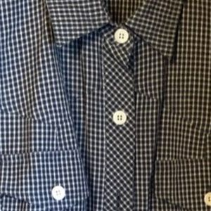 DNKY of NEW YORK COTTON AND LINEN GINGHAM DRESS 10